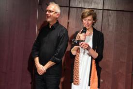 Regisseur Bernd Schmitt, Intendantin Rebecca Egeling. (Foto: Björn Othlinghaus)