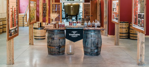 Tasting room at WhistlePig farm and distillery