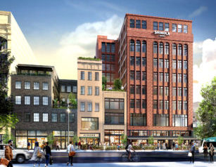 A rendering of the Shinola Hotel from Woodward Avenue. Photo courtesy of the Shinola Hotel