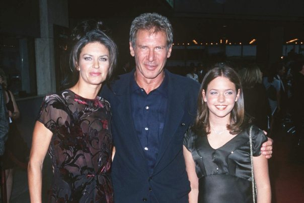 Wendy Crewson (left), Harrison Ford and Matthews at the LA premiere of Air Force One.