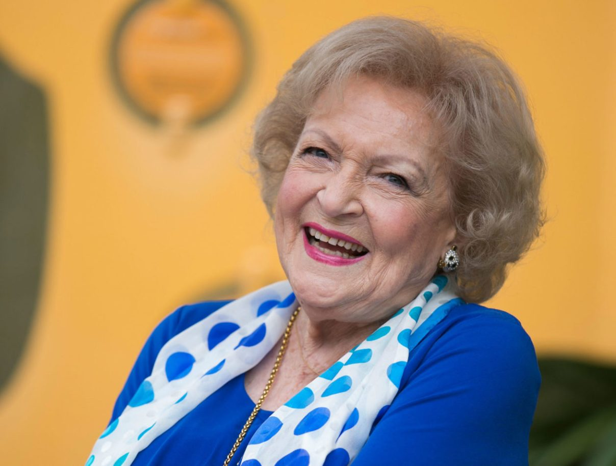 Betty White, over 90 (image)