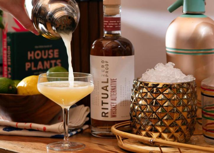 Ritual Zero Proof's Whiskey alternative aims to be a one-to-one substitute for liquor and was designed with cocktails in mind. Photo courtesy of Ritual's Zero Proof