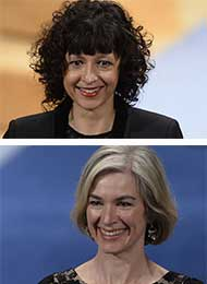 Emmanuelle Charpentier and Jennifer Doudna