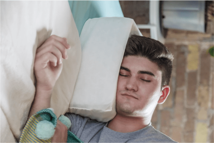 The Pillow Cube is a must-have for side sleepers. Photo courtesy of Pillow Cube
