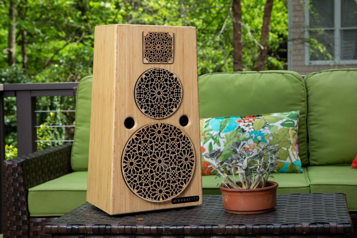 Upgrade dad's home sound system with the completely wireless S7 from Audality. Photo courtesy of Audality