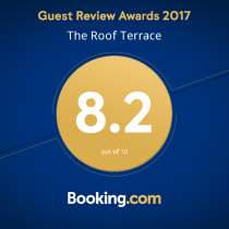 Worthing Accommodation Booking.com Award - The Roof Terrace Worthing