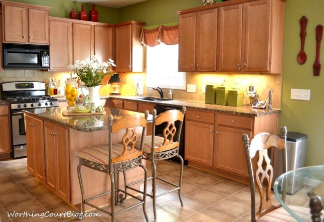 All About the Details Kitchen Tour - Worthing Court on Natural Maple Kitchen Backsplash Ideas With Maple Cabinets  id=90717