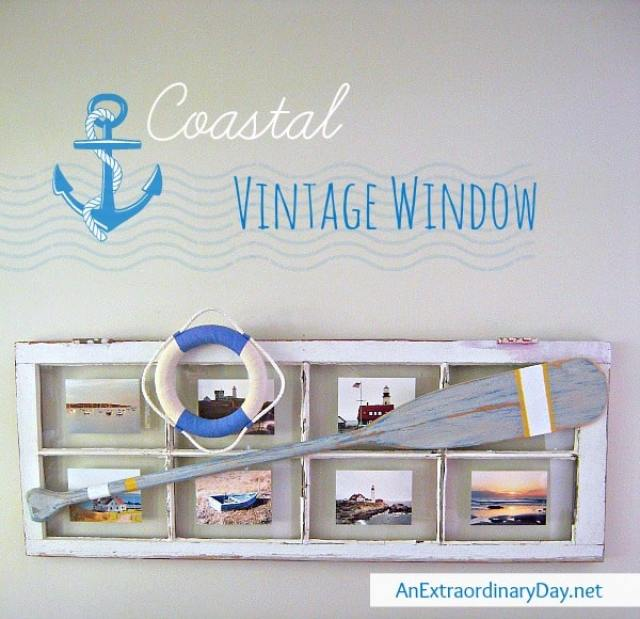 Coastal Vintage Window Picture Frame