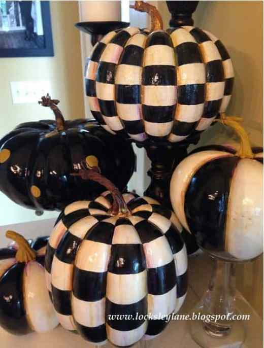How to paint MacKenzie-Childs inspired faux pumpkins