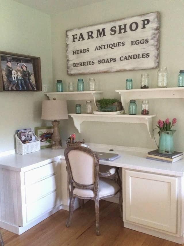Pretty desk area makeover