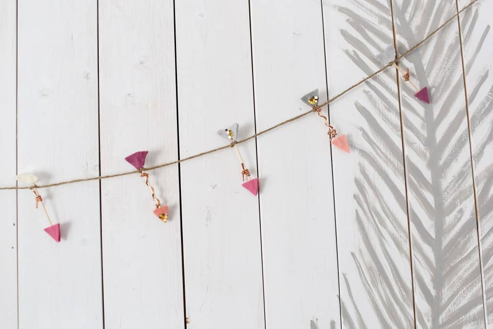 Mini Heart Garland from The Logbook