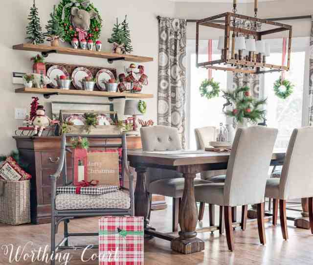 Rustic Farmhouse Christmas Breakfast Nook Worthing Court