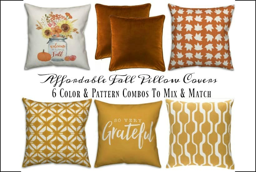 fall throw pillow covers under 30