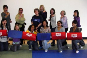 Dr. Judith Fein and her Self-Defense for Women Class at CCSF