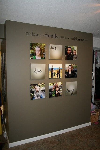 Crates and pallets can be purchased at your nearest big box store without spending a lot of money. Wall decor ideas for living room