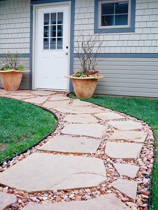 27 Easy and Cheap Walkway Ideas for Your Garden on Backyard Walkway Ideas id=96142