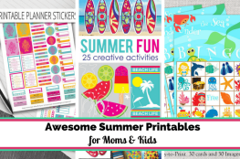 summer printables for kids and moms