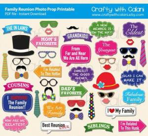 family reunion funny printable photo props