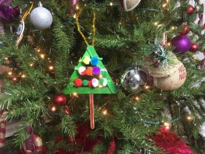 DIY Christmas ornament for kids