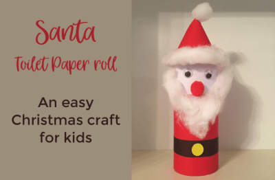 Santa Christmas craft for kids