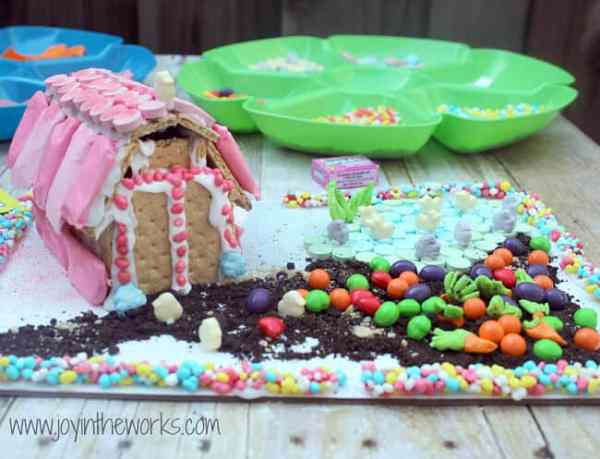 Easter craft graham cracker barn