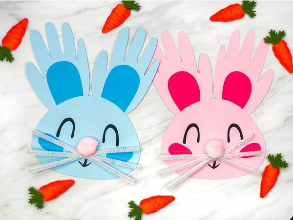 Handprint Easter craft for kids
