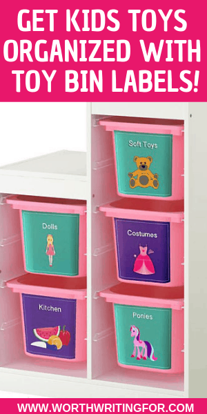 Toy Bin Labels to Organize Your Playroom