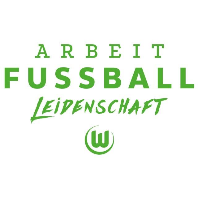 Das Motto des VfL: Arbeit, Fußball, Leidenschaft. (Foto: VfL Wolfsburg)