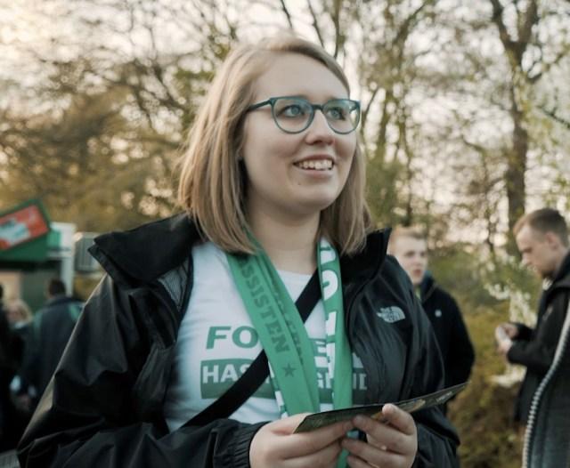Die grüne Raute im Herzen: Julie Göths. (Foto: Bremen Next)