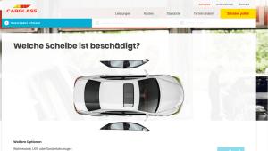 Carglass Webseite
