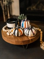 MakerX Melted Crayon Pumpkin DIY Makes Any Home Festive For Fall!