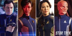 Sonequa Martin-Green, Jason Isaacs, Doug Jones und Star Trek: Discovery
