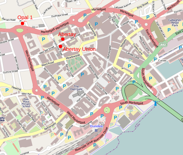map dundee city centre
