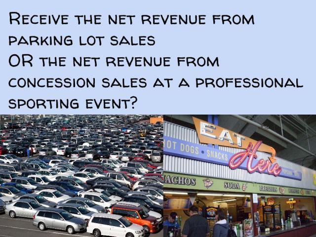 parking vs concessions