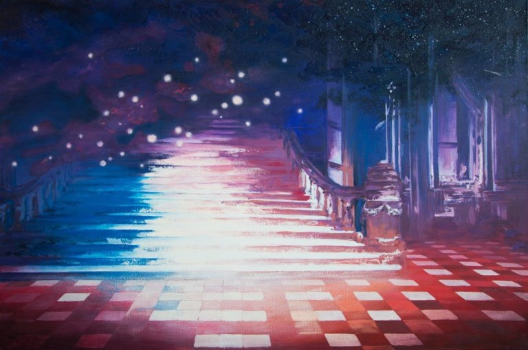 Stairway to Beyond Acryl Painting