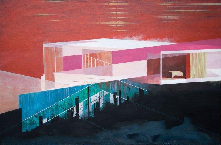 Modern House Acryl Painting