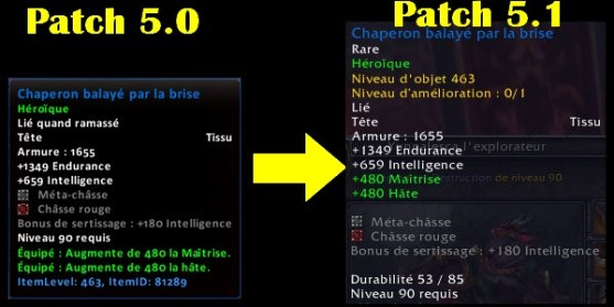 Patch 5.1 - modification des objets