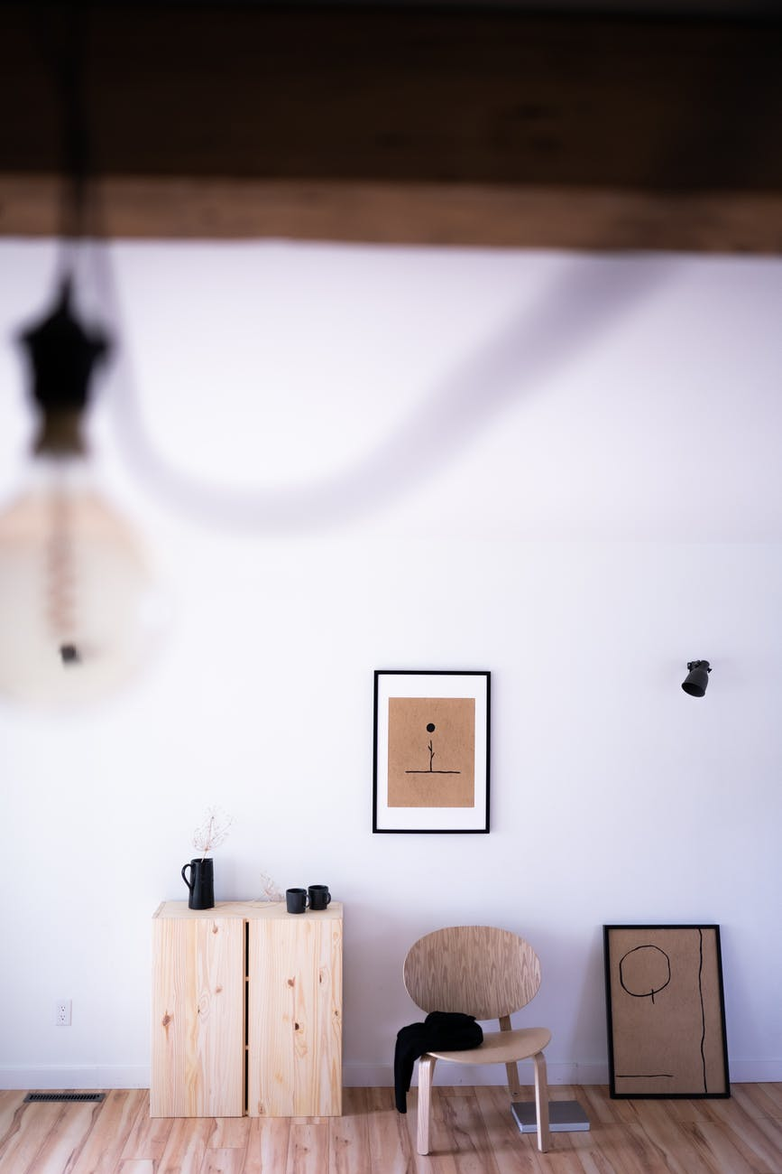 room with brown theme