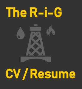 The R-i-G CV or Resume