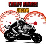 Crazy Bikers Jigsaw