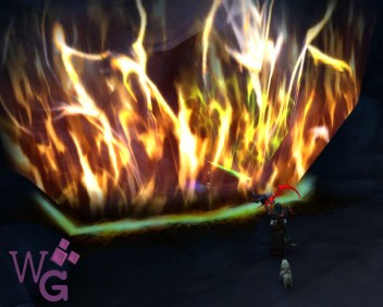 Barreira de fogo - use a poção de fogo