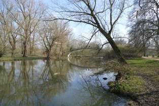 River Cherwell in den Oxford University Parks