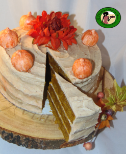 Pumpkin Spice Cake with Pumpkin Spice Cream Cheese Frosting