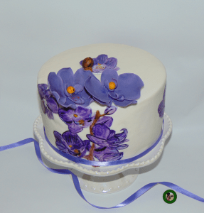 How to Create a Hand Painted Cake inspired by Orchids