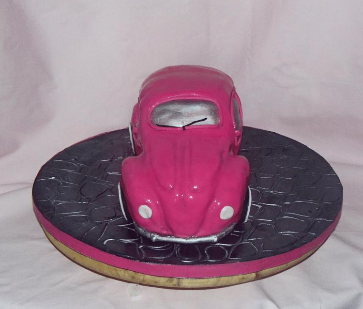 VW Beetle Car Cake shiny