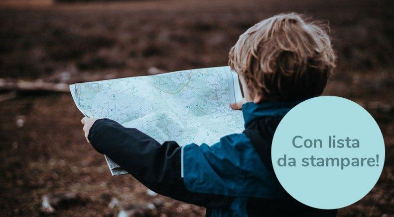Lista valigia bambini stampabile