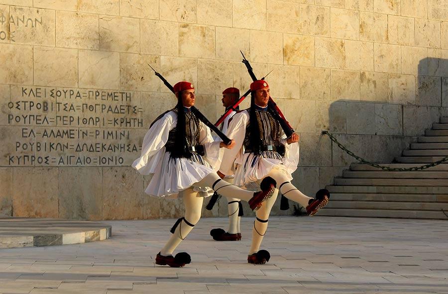 Cambio della guardia ad Atene