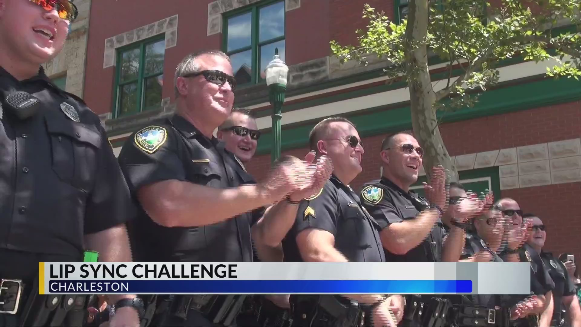 Charleston Police Department's Lip Sync Challenge Draws Huge Crowd