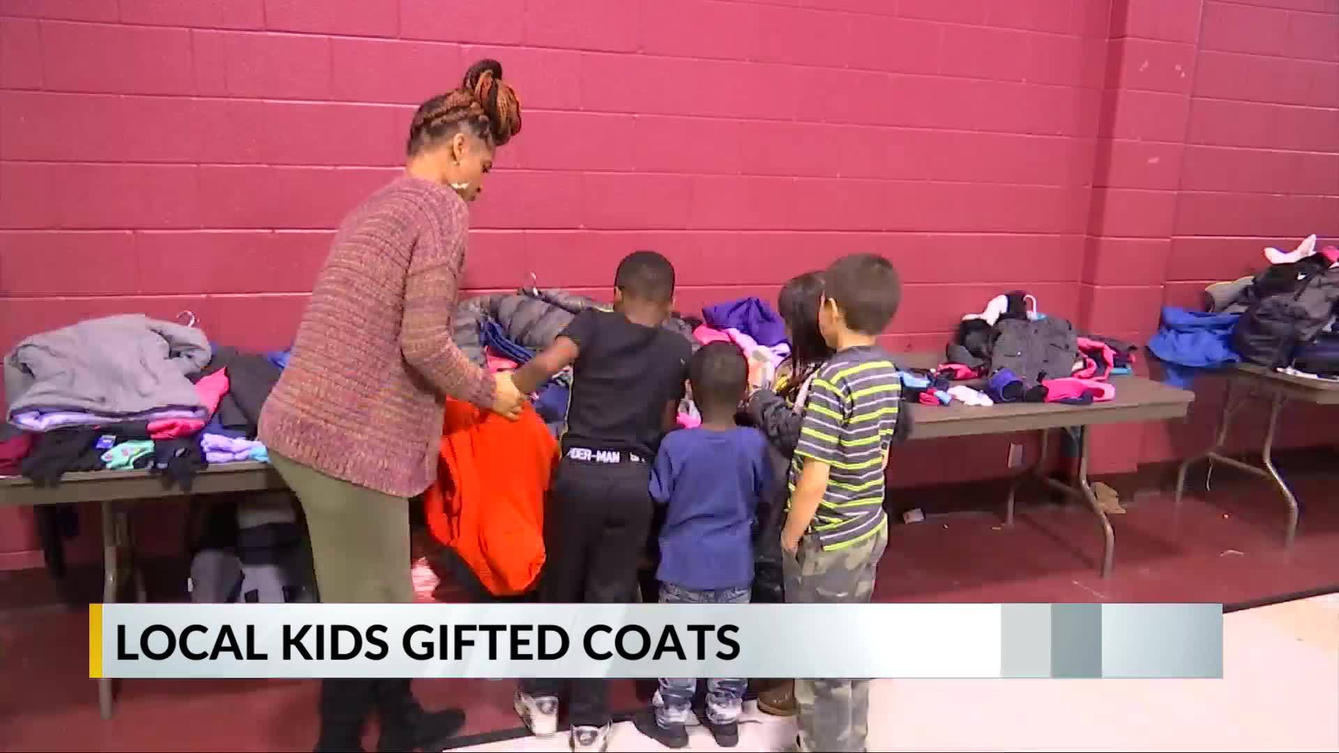 Local After School Program Gifted Coats for Students
