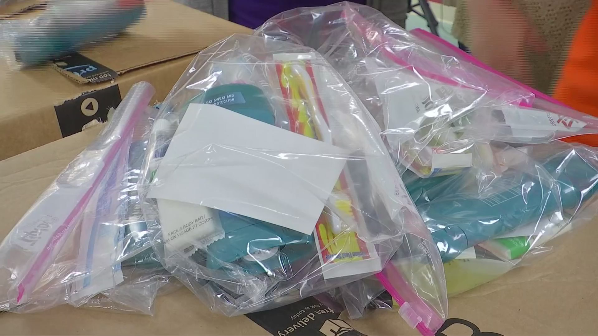 Non-Profits Benefit From Hygiene Kit Donations